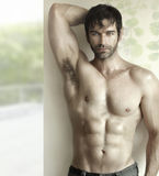 Hot guy with abs Stock Photography
