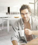 Hot guy in morning Stock Photo