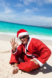 Hot Happy Chistmas on beach Stock Photo