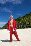 Hot Happy Chistmas on beach Royalty Free Stock Image
