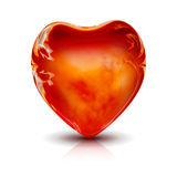 Hot Heart. The beautiful hot fire Heart. Isolated Royalty Free Stock Photo