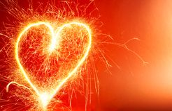 Hot Heart Background Stock Images