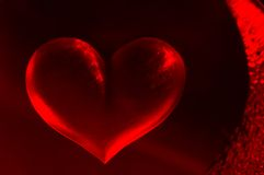 Hot Heart Background Royalty Free Stock Photo