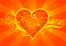 Hot Heart full of love royalty free stock photo