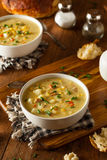 Hot Homemade Corn Chowder Stock Images