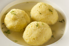 Hot Homemade Matzo Ball Soup Royalty Free Stock Images