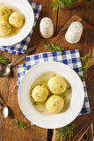 Hot Homemade Matzo Ball Soup Royalty Free Stock Photos