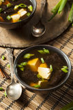 Hot Homemade Miso Soup Stock Images