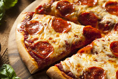 Hot Homemade Pepperoni Pizza Royalty Free Stock Photo