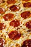 Hot Homemade Pepperoni Pizza Royalty Free Stock Photography