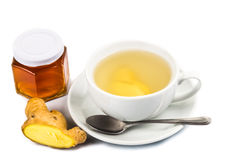 Hot honey ginger tea in cup Stock Photography