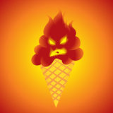 Really Hot Ice Cream Stock Image