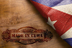 Hot imprint Made in Cuba Stock Photography