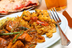 Hot Indian Curry Meal Stock Image