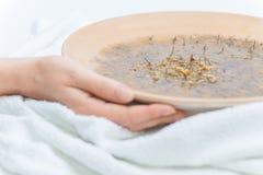 Hot inhaled chamomile Royalty Free Stock Photo