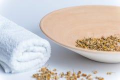Hot inhaled chamomile Stock Image