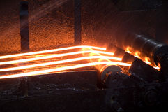 Hot Iron. Constructions iron / hot reinforcing bar Stock Photo