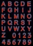 Hot Iron Font. Set isolated on black background Stock Photos