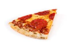 Hot italian pepperoni pizza slice isolated stock photos