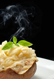 Hot jacket potato Royalty Free Stock Photo