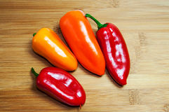 Hot Jalapeno Serenade Chilli Peppers Stock Images