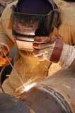 Hot job. Welder Stock Image