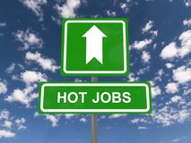 Hot jobs Stock Photography