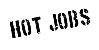 Hot jobs rubber stamp Stock Photography
