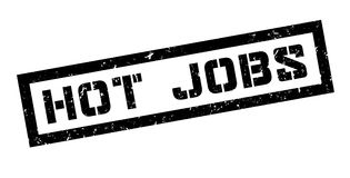 Hot jobs rubber stamp Royalty Free Stock Photography