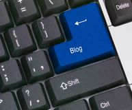 Hot key for blog. Keyboard with key for blog Royalty Free Stock Photos