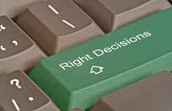 Hot key for decision. Keyboard with hot key for decision Royalty Free Stock Photos