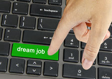 Hot key for dream job Royalty Free Stock Photography