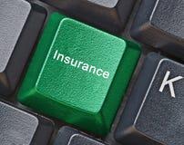 Hot key for insurance Stock Image