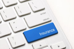 Hot key for insurance Royalty Free Stock Photography