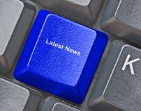Key for latest news Stock Photo