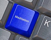 Hot key for  meditation. Keyboard with hot key for  meditation Stock Photo