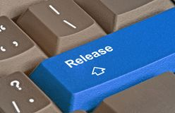 Hot key release. Keyboard with hot key release stock photo