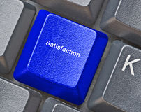 Hot key for satisfaction. Keyboard with hot key for satisfaction Royalty Free Stock Images