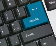Hot key to acquire. Keyboard with hot key to acquire Royalty Free Stock Photography