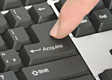Hot key to acquire. Keyboard with hot key to acquire Stock Photography