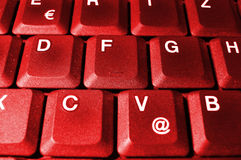 Hot Keys. Red pc keyboard Stock Photo