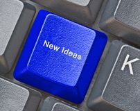 Hot keys for new ideas. Keyboard with hot keys for new ideas Royalty Free Stock Photo