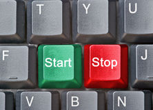 Hot keys for Start and Stop Stock Images