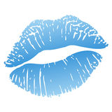 Hot kiss stock illustration