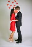 Hot kiss Stock Photos