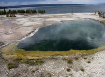 Hot lake in yellowstone Stock Photo