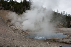 Hot lake in yellowstone stock photo