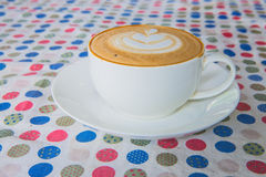 Hot latte. At morning on coffee shop Royalty Free Stock Photos