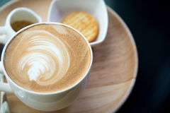 Hot latte art coffee Royalty Free Stock Photography