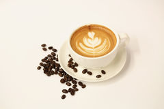 Hot Latte Art Coffee Stock Photography